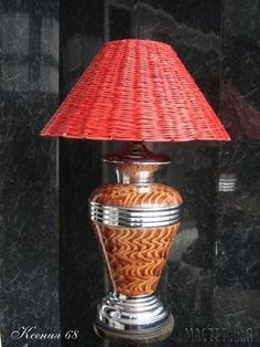 Lampshade from newspapers