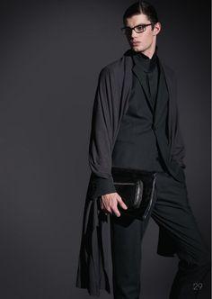 Emilio Flores, Joan Pedrola & Pete Bolton are Dressed in Black for Emporio Armani Fall/Winter 2012