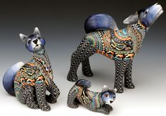 Artifacts Gallery - Wolf Family by Jon Anderson