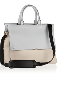 Victoria Beckham | Two-tone leather tote | NET-A-PORTER.COM