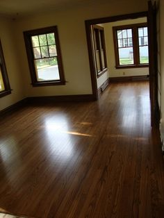 stained or painted trim with dark wood floors - Google Search