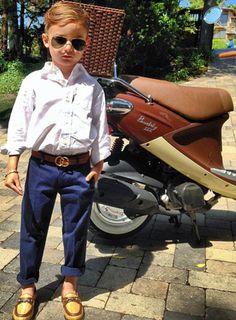 CrewCuts shirt and pants, Gucci belt and shoes  Photo: Luisa Fernanda Espinosa