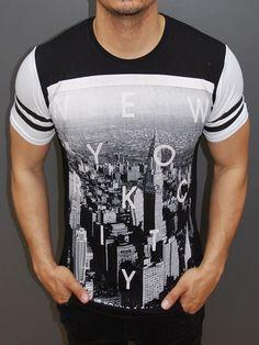 Y&R Men New York City Graphic T-Shirt - Black