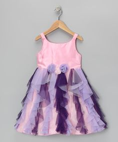 Take a look at this Pink & Purple Daniella Dress - Toddler & Girls by Joe-Ella on #zulily today!