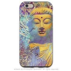 Colorful pastel Buddha art - Artistic iPhone 6 6s Tough Case - Dual Layer Protection - Light of Truth