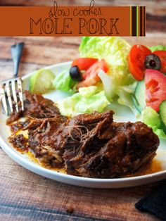 Paleo Slow Cooker Mole Pork -- Foraged Dish