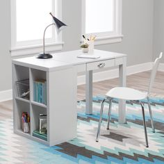Classic Playtime Mini Writing Desk with Optional Bookcase - Get set up for academic and creative success with the Hudson Mini Writing Desk with Optional Bookcase . Sized just right for bedrooms and small spaces,...