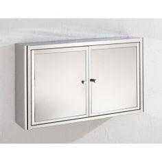 Hand Made Nancy 50cm Wide By 31cm Tall Double Mirror Door Bathroom Cabinet