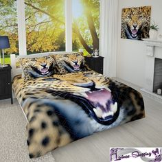 foto tagesdecke bett berwurf tiger digital 3d druck. Black Bedroom Furniture Sets. Home Design Ideas