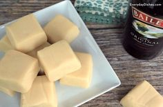 This Irish cream fudge is the easiest fudge recipe on the planet and the flavor is light and smooth!
