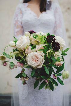 Beautiful-Wedding-Bouquet-Subtle-Elegance-White-Burgundy-Blush-Flowers-Roses
