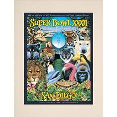 "Fanatics Authentic 1998 Broncos vs. Packers 10.5"" x 14"" Matted Super Bowl XXXII Program - $29.99"