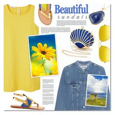 """""""The Cutest Summer Sandals II"""" by anna-anica ❤ liked on Polyvore featuring Ray-Ban, MANGO, Acne Studios, Sanchita and summersandals"""