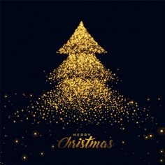 Christmas tree made with golden sparkles Free Vector Christmas Cover, Christmas Images, Christmas Signs, Christmas Holidays, Christmas Cards, Christmas Decorations, Christmas Jesus, Vector Christmas, Christmas Wishes Messages