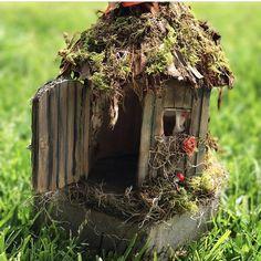 Wooden Fairy/Bird House Handmade