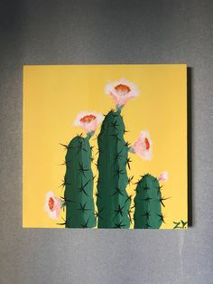 A personal favorite from my Etsy shop https://www.etsy.com/listing/602433048/cacti-cactus-in-bloom-flower-floral