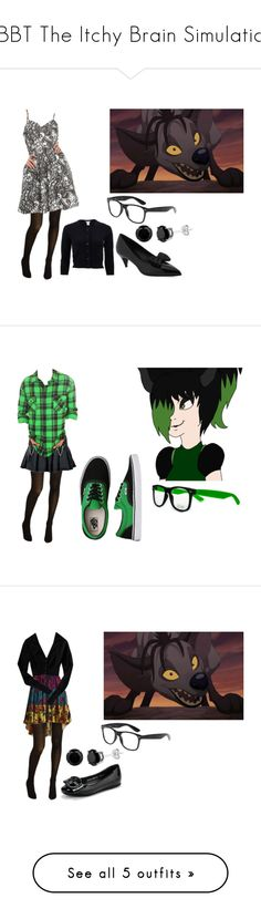"""""""TBBT The Itchy Brain Simulation"""" by brainyxbat ❤ liked on Polyvore featuring BANZAI, Cole Haan, Oscar de la Renta, Yves Saint Laurent, Hot Topic, Vans, Betsey Johnson, Old Navy, WithChic and Xhilaration"""
