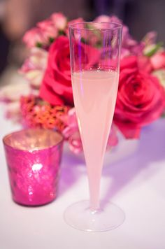 LiDestri's Pink Limoncello is competely delicious and so chic for a pink wedding. Add a citrus garnish for an added pop of color!