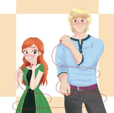 Anna Kristoff, Disney Specials, Rule 63, Disney And More, Jelsa, Princesas Disney, Anime Style, Frozen, Queen