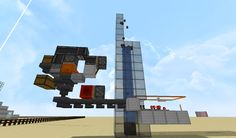 Compact automatic Shulker box unloader for sorts out used shulker boxes to a separate inventory. Minecraft 1, Minecraft Designs, Willis Tower, Compact, Box, Building, Snare Drum, Buildings, Construction