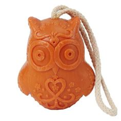Owl Soap On A Rope #owl #soap #rope #orange