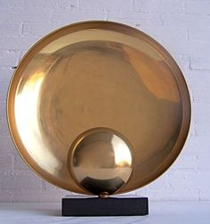 Copper and marble art table lamp 1960's | From a unique collection of antique and modern table lamps at https://www.1stdibs.com/furniture/lighting/table-lamps/