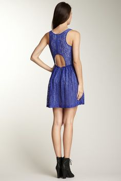 Cut out lace dress - HauteLook.com