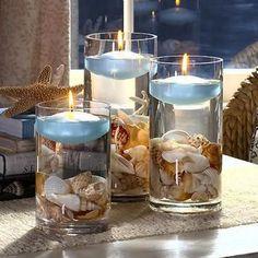 Beach Theme Centerpieces, Glass Centerpieces, Beach Wedding Decorations, Glass Vase, Beach Centerpiece Wedding, Centerpiece Flowers, Glass Bowls, Wedding Vases, Wedding Favors