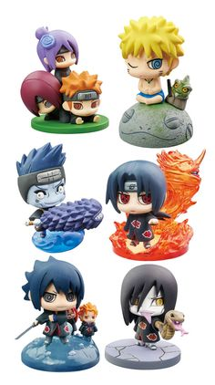 Naruto Shippuden Petit Chara Land assortiment trading figures Naruto and Akatsuki Part 2 (6) Megahouse