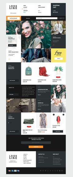 Looklike web design  Thanks to Inspiration DE