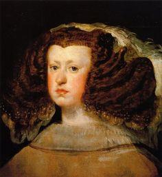 'Königin Mariana', öl auf leinwand von Diego Velazquez (1599-1660, Spain)