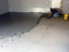 Bad concrete can cause a number of problems. One common issue many home and business owners face is poorly sloped concrete. This happens when the concrete contractor that places the original concr… Garage Floor Resurfacing, Concrete Floor Leveling, Concrete Floor Coatings, Concrete Garages, Concrete Porch, Painted Concrete Floors, Painting Concrete, Stained Concrete, Epoxy Garage Floor Coating