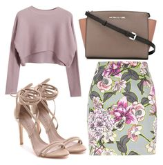 """Untitled #2529"" by fiirework ❤ liked on Polyvore featuring Chicnova Fashion, River Island, MICHAEL Michael Kors and Schutz"