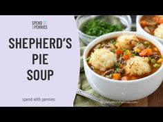 Shepherd's Pie Soup featured the classic flavors we all love in Shepherd's Pie and turns it into a delicious belly warming soup! A rich beefy broth, hamburger & vegetables are topped with golden potato puffs.