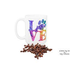 Items similar to Dog Lover Mug - Love Paw Print - Dog Lover Gift - Dog Mug - Cat Lover Mug - Dog Mom - Dog Coffee Mug - Cat Coffee Mug - Veterinarian on Etsy Dog Coffee, Dog Art, Cricut Ideas, Cricket, Dog Lovers, Invitations, Group, Mugs, Board
