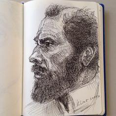 Gustav Klimt drawing ..