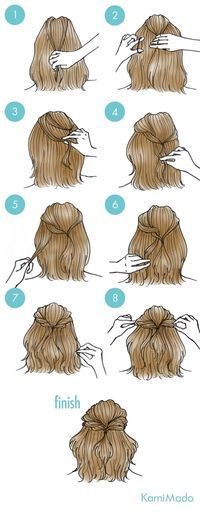 A go-to hairstyle for sure More