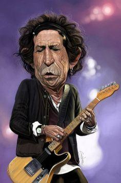 Jim Morrison Caricature | Caricature Keith Richards 462x700 Caricatures de stars #2