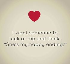 « She´s my happy ending »