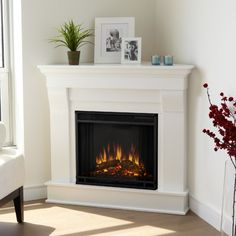 real flame chateau corner electric fireplace wayfair