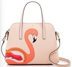 kate spade Rare HTF Flamingo Pink Purse on Mercari Pink Handbags, Kate Spade Handbags, Kate Spade Purse, Ladies Handbags, Bags Online Shopping, Online Bags, Animal Bag, Leather Satchel, Purses