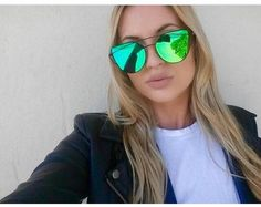 Mirrored cat eye chic sunglasses Does not include case Eyewear Type: SunglassesItem Type: EyewearFrame Material: AlloyLenses Material: PolycarbonateLens Heigh Flat Top Sunglasses, Oversized Sunglasses, Cat Eye Sunglasses, Mirrored Sunglasses, Eyewear, Emerald, Change, House, Outfits
