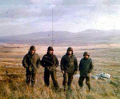 monte Longdon de Izquierda a derecha teniente Quiroga Soldado Claudio Hefner Soldado Jose Burns Sargento Insaurralde