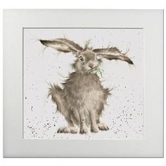 Hannah Dale - Hare Brained, Print, Signed & Mounted, 40x40cm: