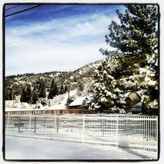 Wrightwood, on the way to Mountain High #snow Maybe I miss California A little
