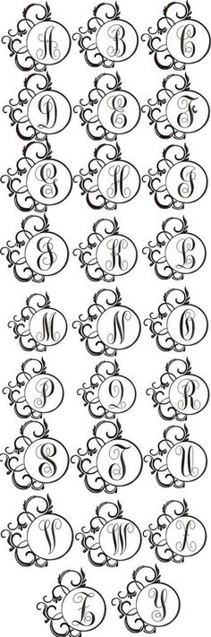 Scrolly Fancy Font Frame for Machine Embroidery by Embroitique, $9.99: