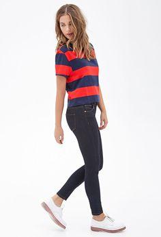 Striped Boxy Knit Tee #F21StatementPiece