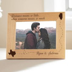 Etsy Personalized Long Distance Love Picture Frame, because love knows no bounds. #ad