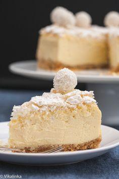 Raffaello Cheesecake - coconut and almond infused cheesecake.