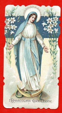 s2 - Holy Card Santino  Immacolata Concezione  - II